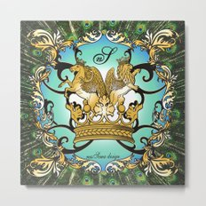Royal Horse & Leo - animalprint Metal Print