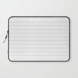White and Grey Horizontal Stripes Laptop Sleeve