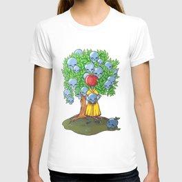 Marker tree skulls man - apple T-shirt