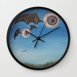 Flying Eyeballs Wall Clock