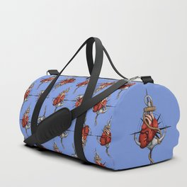 Love and Sea (anchor with heart and compass) Duffle Bag