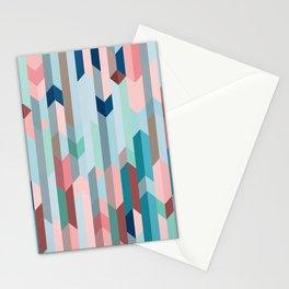 Blue & Pink Chevron Pattern Stationery Cards