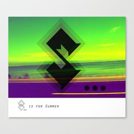 S...is for summer Canvas Print