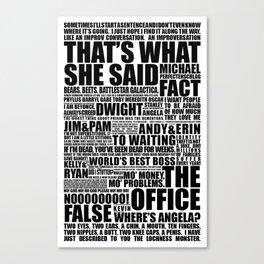 The Office B&W Canvas Print