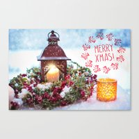merry christmas Canvas Prints featuring Merry Christmas by UtArt