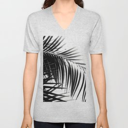 Palm Leaves Black & White Vibes #3 #tropical #decor #art #society6 Unisex V-Neck