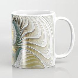 Noble And Golden, Abstract Modern Fractal Art Coffee Mug