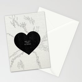 open you heart to orphans Stationery Cards
