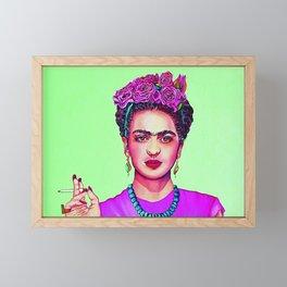 Frida in Hot Pink Framed Mini Art Print