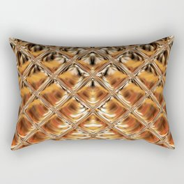 Mirrored Copper Metallic Urban Industrial Texture Rectangular Pillow