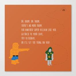 Pop Culture Nursery Rhymes: Dr. Doom Canvas Print