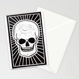 Memento Mori - Lino Print Skull Stationery Cards