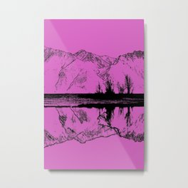 Knik River Mts. Pop Art - 5 Metal Print