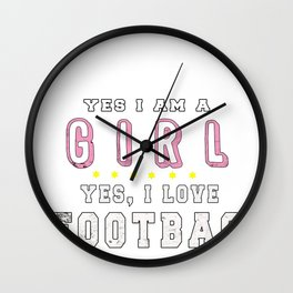 Hacky Sack Footbag Freestyle Girl Sport Game Gift Wall Clock