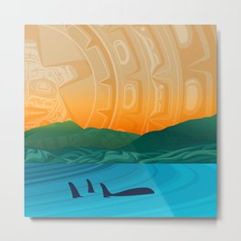 Fairview Bay, Bear & Orca Salish Coast. Metal Print