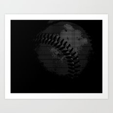 Baseball Illusion Art Print