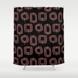 Mid-Century Trees | Groove Hedge Shower Curtain