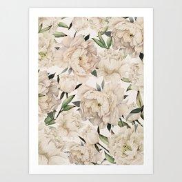 Peonies Pattern Art Print