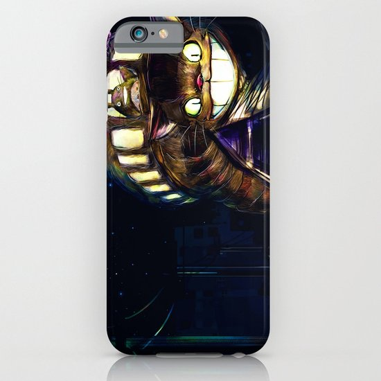 Cat Bus is In Your Town! Miyazaki Tribute Digital Fan Painting iPhone & iPod Case