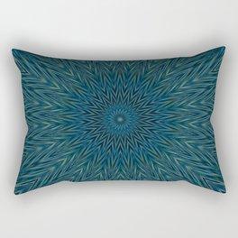 Basal Color Mandala 5 Rectangular Pillow
