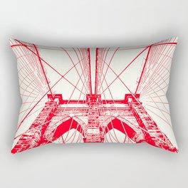 New York, Brooklyn Bridge Rectangular Pillow