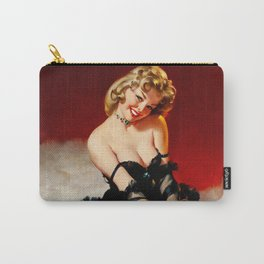 Lady Sitting On A Bear Rug Carry-All Pouch