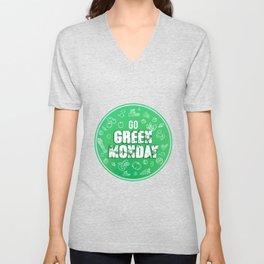 Go eat healthy - Green Monday Unisex V-Neck
