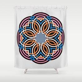 Celtic flower mandala Shower Curtain