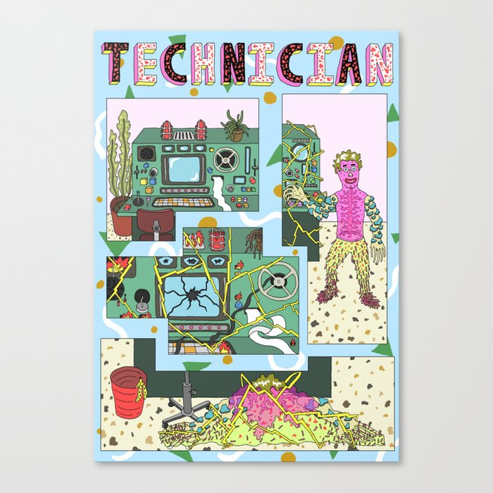 technician Canvas Print