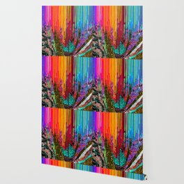 Peacock Mermaid SUNSET Abstract Geometric Wallpaper