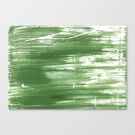Fern green abstract watercolor Canvas Print