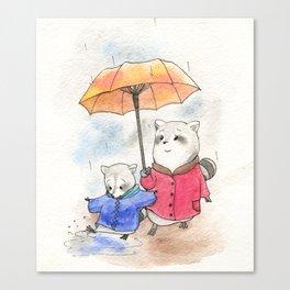 The Rain is Fun Canvas Print