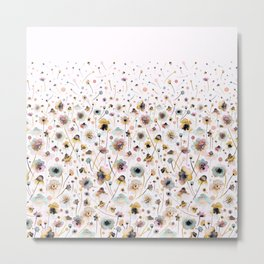 Wild flowers sunshine gold Metal Print