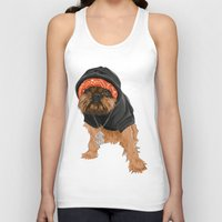 gangster Tank Tops featuring Gangster Digby by Michele Nicolette