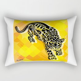 jaguars in gold ecopop Rectangular Pillow