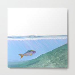A Fish One Day Metal Print