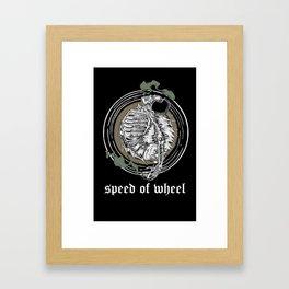 SPEED OF WHEEL Framed Art Print