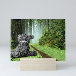 Teddy Bear Left Behind Mini Art Print