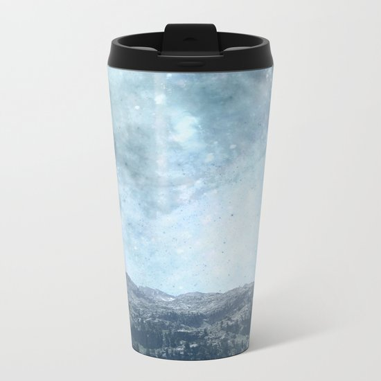 Mystic Mountains Metal Travel Mug