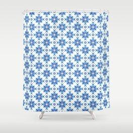 Shibori Watercolour no.5 Shower Curtain