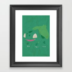 Bulbasaur Framed Art Print