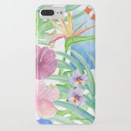 Malia's Tropical Print iPhone Case