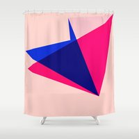 origami Shower Curtains featuring Origami by TheseRmyDesigns