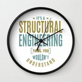 Structural Engineering Thing Wall Clock