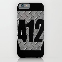 Pittsburgh 412 Keystone Steel Plate Gifts iPhone Case