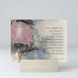 Serenity Prayer Tree and Lanterns Mini Art Print