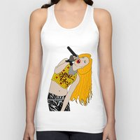 hedwig Tank Tops featuring Hedwig Singing by byebyesally