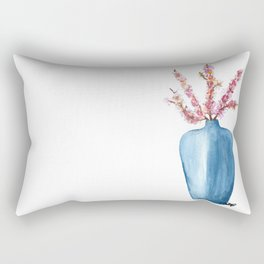 Cherry Blossoms in Vase  Rectangular Pillow