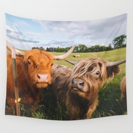 Highland Cows - Blep Wall Tapestry