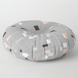 Square abstract Floor Pillow
